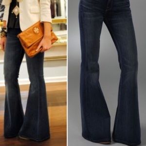 7 for all mankind denim trousers super flare jeans